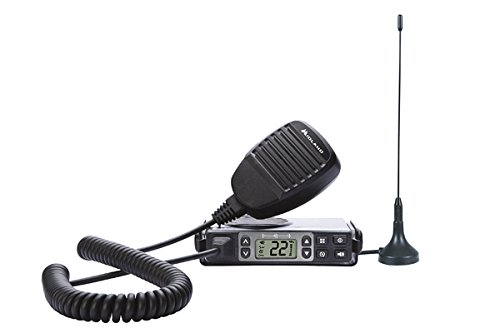 Midland - MXT105, 5 Watt GMRS MicroMobile Two-Way Radio - Up to 40 Mile Range Walkie Talkie, 142 Privacy Codes, NOAA Weather Scan + Alert (Single Pack) (Black) - Mobile Micro