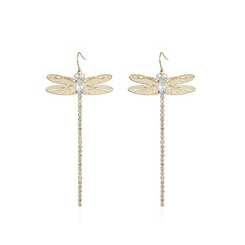 (Z&HA Women's Long Earrings Exquisite Dragonfly Elf Pendant Earrings with Gifts Box and Gift for Her Romantic )