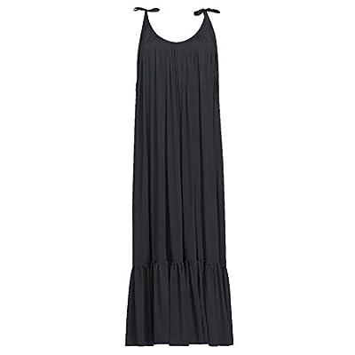 Muranba Womens Dresses Boho Maxi Solid Sleeveless Long Backless Dress Evening Party Beach Dress
