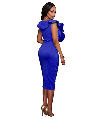 Azul para Vestido VERTTEE Vestido VERTTEE mujer UqBWHFW