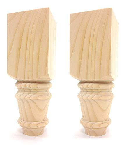 "Set of 2 Baymont Sofa Leg - 10"" Tall x 3 1/2"" Wide (Pine)"