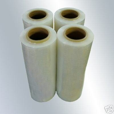 "RC Mart 4 Rolls Clear Stretch Film Plastic Pallet Wrap 18"" Wide x 1500 Ft. 80 Gauge from RC Mart"