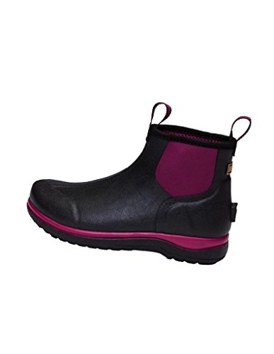 Noble Outfitters Women's Rubber Boots Dark Plum Black XQ70rzW9