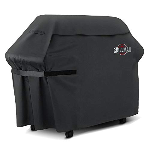 Grillman Premium (58 Inch) BBQ Grill Cover, Heavy-Duty Gas Grill Cover For Weber, Brinkmann, Char...