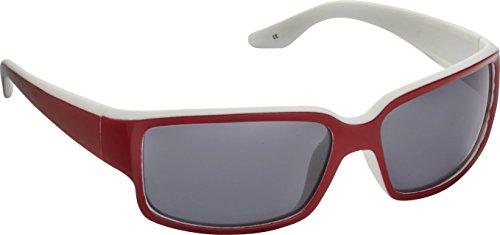 Fisherman Eyewear Upstream Sunglasses, Matte White with Shiny Red - Stream Sunglasses