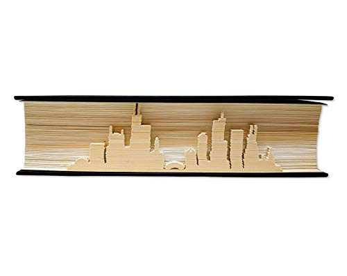 Skyline of Chicago - Artwork with Books - Chicago Art - Chicago architecture - Chicago Souvenirs - Chicago Gifts - Chicago Ornament