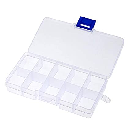 Juke 10 Grid Splited Pp Plastic Storage Box Jewelry Small Components Boxes  Nail Art Sticker Decals Rhinestone Container Holder02  Amazon.in  Home    Kitchen 4b7265b0c09a