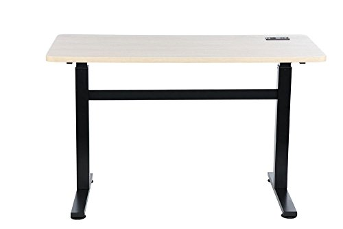 Writing Desk White Wash Top/Black Steel Legs Dimensions: 47.5''W x 23.75''D x 28.75-45.88''H Weight: 69 lbs by Z-Line Designs