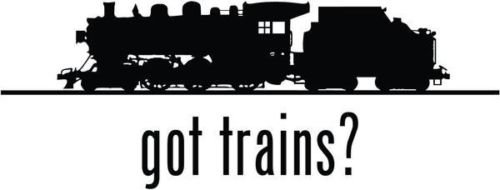 Got Trains Railway Railroad Vinyl Graphic Car Truck Windows Decor Decal Sticker - Die cut vinyl decal for windows, cars, trucks, tool boxes, laptops, MacBook - virtually any hard, smooth surface