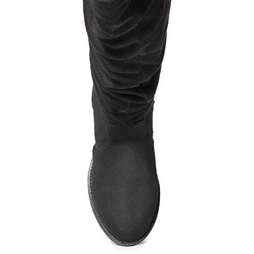 Hidden Pocket FASHION OF High Slouchy Su Black Pocket Boots No Knee Women's Soft ROOM Vegan RF qpZxzz