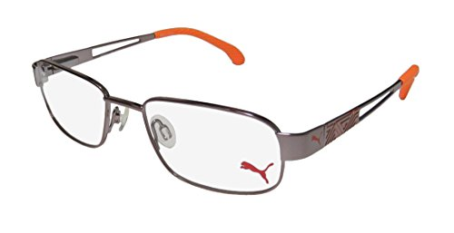 Puma 15417 Mens/Womens Flexible Hinges Color Combination Collectible Hip Optimal TIGHT-FIT Designed For Active Lifestyles Eyeglasses/Eyewear (51-17-135, Rose Brown/Orange) (Rose Brillen)