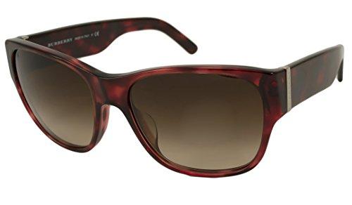 Burberry Sunglasses - 4104MA / Frame: Red Tortoise Lens: Brown - Burberry Red Sunglasses