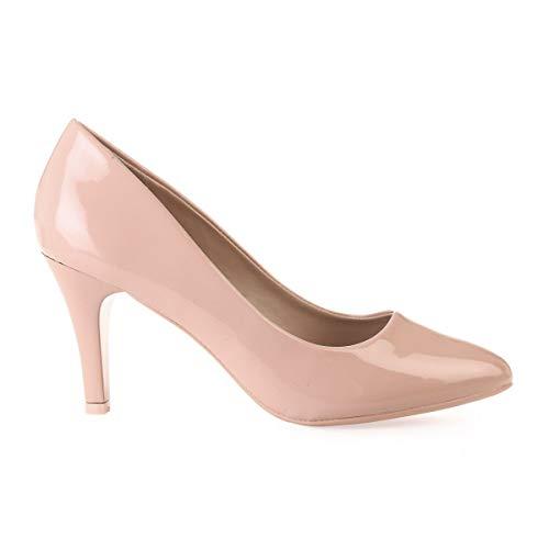 48018 Vestir Mujer Beige De La Zapatos Sintético Modeuse CwO5Iqg