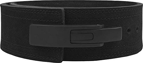 Hawk Sports Lever Belt Black Genuine Leather Powerlifting Men & Women Power Lifting 10mm Weightlifting Belt! (Black, Medium)