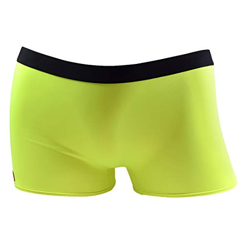 Santa Playa Signature SP Super Soft Breathable Boyshort Bottoms Boyleg, Women's Underwear :: Neon Green Solid (L, Green)