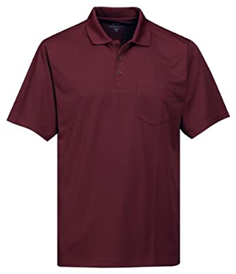 Tri-Mountain Men's 5 oz Moisture Wicking Polyester Shirt w/Pocket