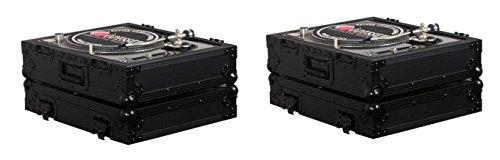 2 Odyssey FZ1200BL Technics 1200 Style Turntable Cases for Numark/Stanton