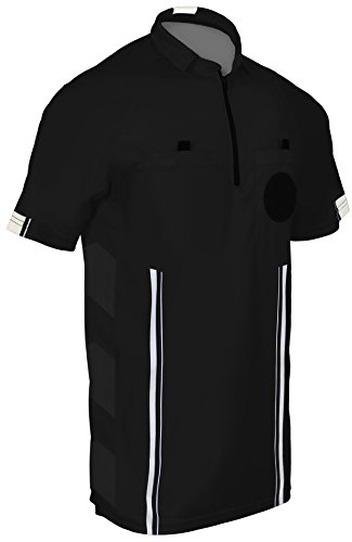 New! 2018 Soccer Referee Jersey (2018 Black, Adult Small)