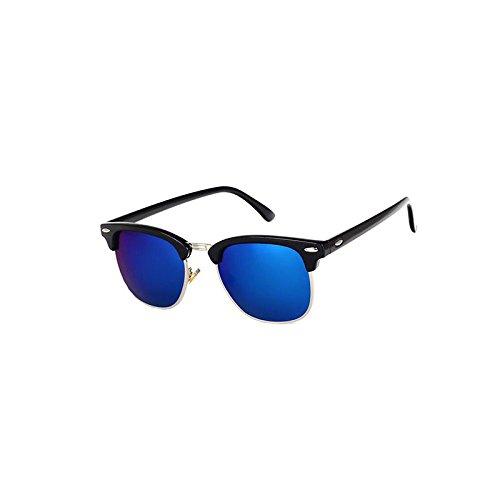Unisexes Métal En PC Lunettes De Oculaires UV400 HD De Protection Blackboxsilverframebluefilm Soleil Lunettes Polarisées 7tCCgwq