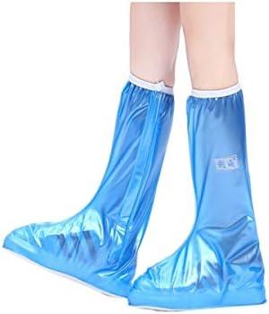 XHYRB 高チューブ防水靴カバー、夏の男性と女性は耐摩耗性砂プルーフそして防雨子供高チューブ防水靴カバー 防水靴、防雨カバー、長靴 (Color : Blue, Size : S)