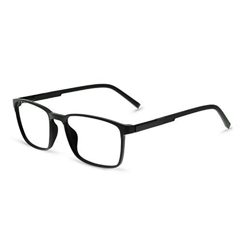 OCCI CHIARI Men Fashion Rectangle Fashion Eyewear Frame With Non-Prescription Clear Lens
