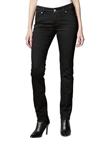 Mustang Slim LegMedium Rise Damen Jeans Hose in Schwarz