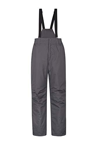 Mountain Warehouse Dusk Mens Ski Pants – Elastic Waist Snow Trousers Dark Grey Small