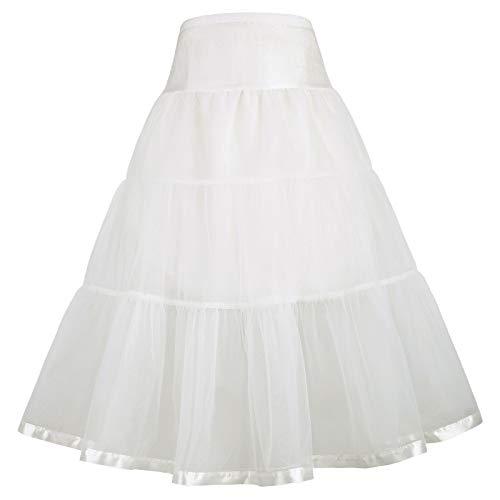 GRACE KARIN Little Girl Voile Crinoline Tutu Petticoats (Ivory(cl36), 8-9Y) from GRACE KARIN
