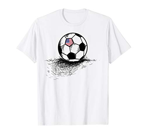 United States Soccer Ball Flag Jersey Shirt - USA Football