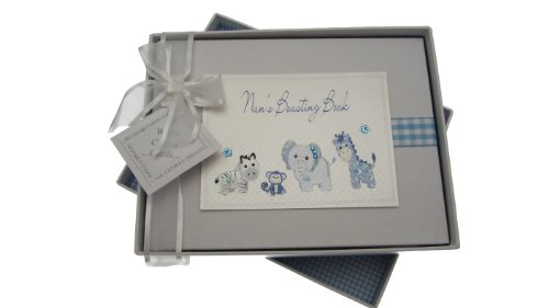 - White Cotton Cards Nan's Boasting Book Photo Album Toys Range (Blue Gingham)