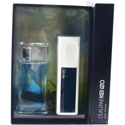 L'EAU PAR KENZO by Kenzo EDT SPRAY 1.7 OZ & HAIR AND BODY SHAMPOO 3.4 OZ for MEN ---(Package Of 6)