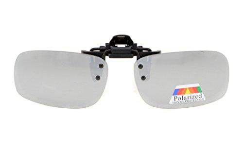 Eyekepper Lot de 2 sur-lunette de soleil Polarisee 53x33 MM 2pcs-argente