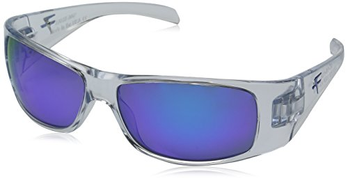 Fatheadz Eyewear Men's Power Trip V2.0 FH-V121-4BL Polarized Wrap Sunglasses, Clear, 67 - Frames Fathead Glass