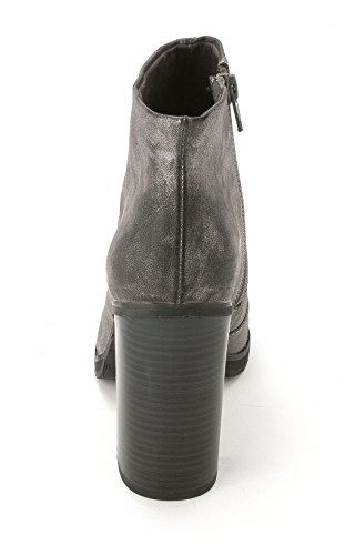 BC Footwear Crowd, Fashion Stiefel Frauen, Runder Zeh Pewter Metallic