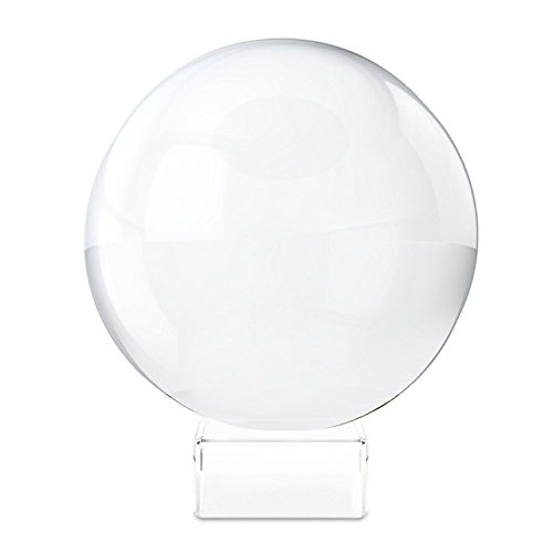 "Clear Crystal Ball with Stand, MerryNine 3-1/5"" /80mm Art Decor K9 Crystal Prop for Photography Decoration"