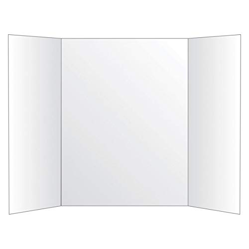 Office Depot 72% Recycled Tri-Fold Corrugate Display Board, 36in. x 48in, White, - Poster Board Recycled