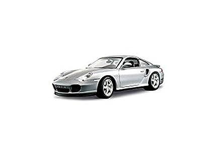 1999 Porsche 911 (966) Turbo Gris Metalizado 1:18 Bburago 12030