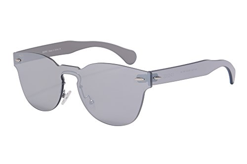 Amazon.com: SHINU Womens UV400 Sunglasses One-piece Mirror ...