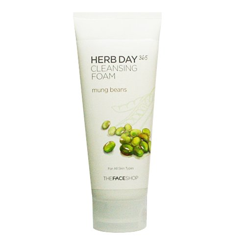 The Face Shop Herb Day 365 Mung Beans Cleansing Foam - Shop Herb Face