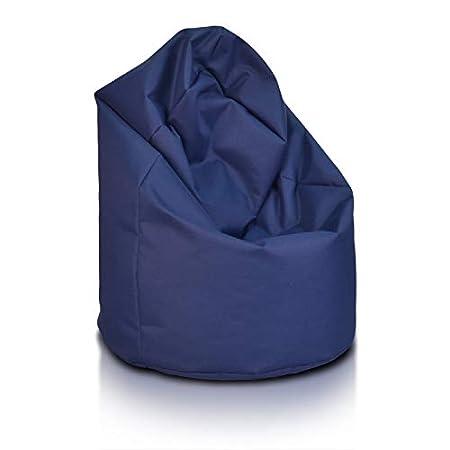 Bepouf Poltrona Sacco Puf Pouf Poliestere Pieno Azzurro, Giga