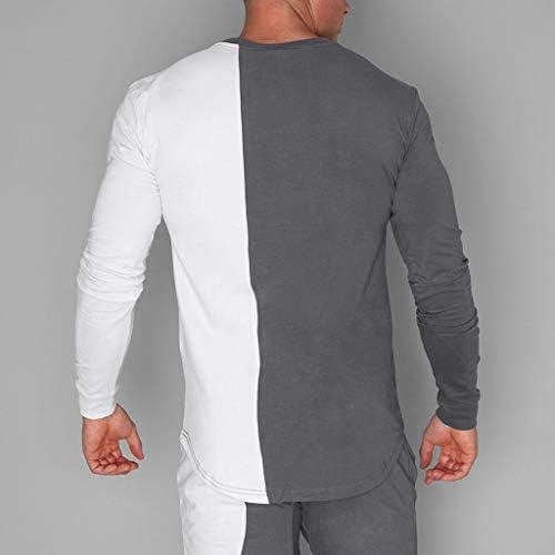 CLOOM Negro y Blanco Patchwork Blusa Casual Básico Camiseta De ...