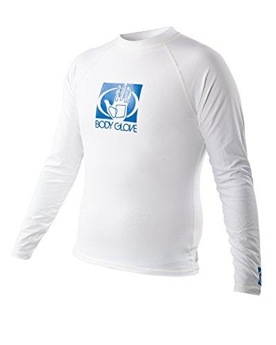Body Glove Men's Basic Long Arm Rashguard, Small, White by Body Glove