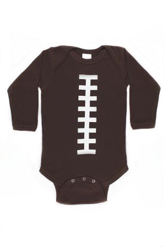 Bambino Balls Unisex Baby Long Sleeve Football Outfit (Newborn (0-3 -