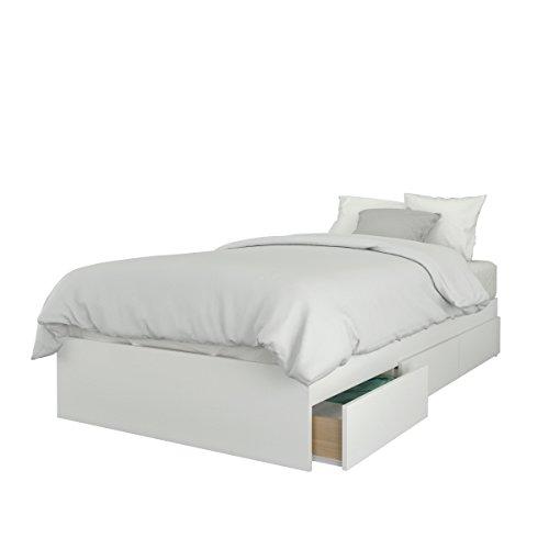 Nexera 373903  373903 3-Drawer  Size Bed,   Size Storage Bed, Twin, White