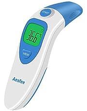 Termómetro Digital Frente y Oído, 4 in 1 Termómetro Infrarrojo Médico Alta Precisión Para Bebe Niños y Adultos,Alarma De Fiebre,Temperatura Ambiente, Certificación Médica de CE y RoHS Aprobada