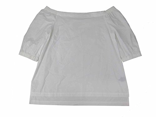 Lauren Cotton Blouse (Lauren Ralph Lauren Women's Off The Shoulder Top (XL, White))
