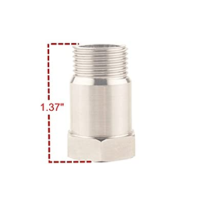 DEWHEL Pair M18 X1.5 O2 Oxygen Sensor Mounting Bung Fitting Stainless Steel: Automotive
