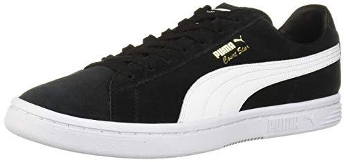 Court Star Leather - PUMA Men's Court Star Sneaker, Black White, 13 M US