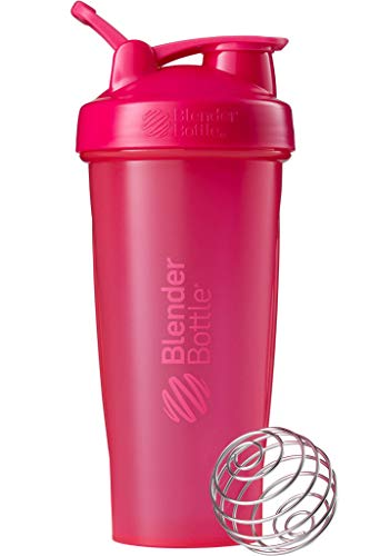 BlenderBottle Classic Loop Top Shaker Bottle, 28-Ounce, Full Color Pink (Thrive Blender Bottle)