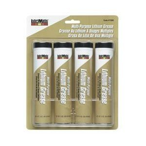 Lubrimatic Multi-Service Grease 3 Oz. Lithium Base 4 / Pk (Lithium Batteries Clam)